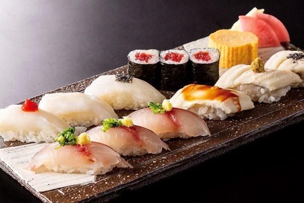 6月・7月「関鯵・生蛸・穴子 食べくらべ握り」