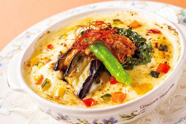 7月・8月【ランチセット】彩り野菜と挽き肉のスパイシードリア