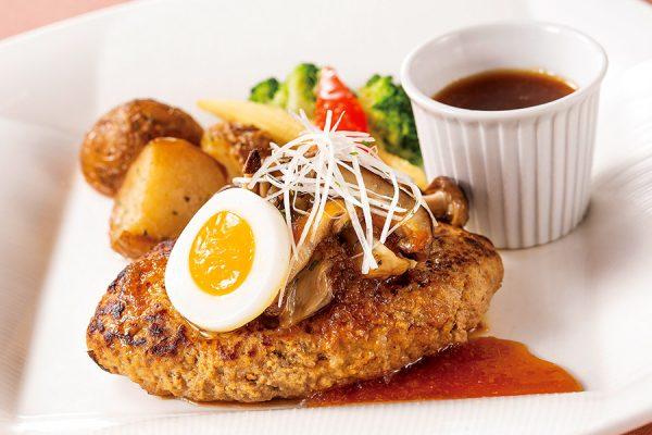 【ランチセット】ハンバーグステーキ 木の子おろしソース